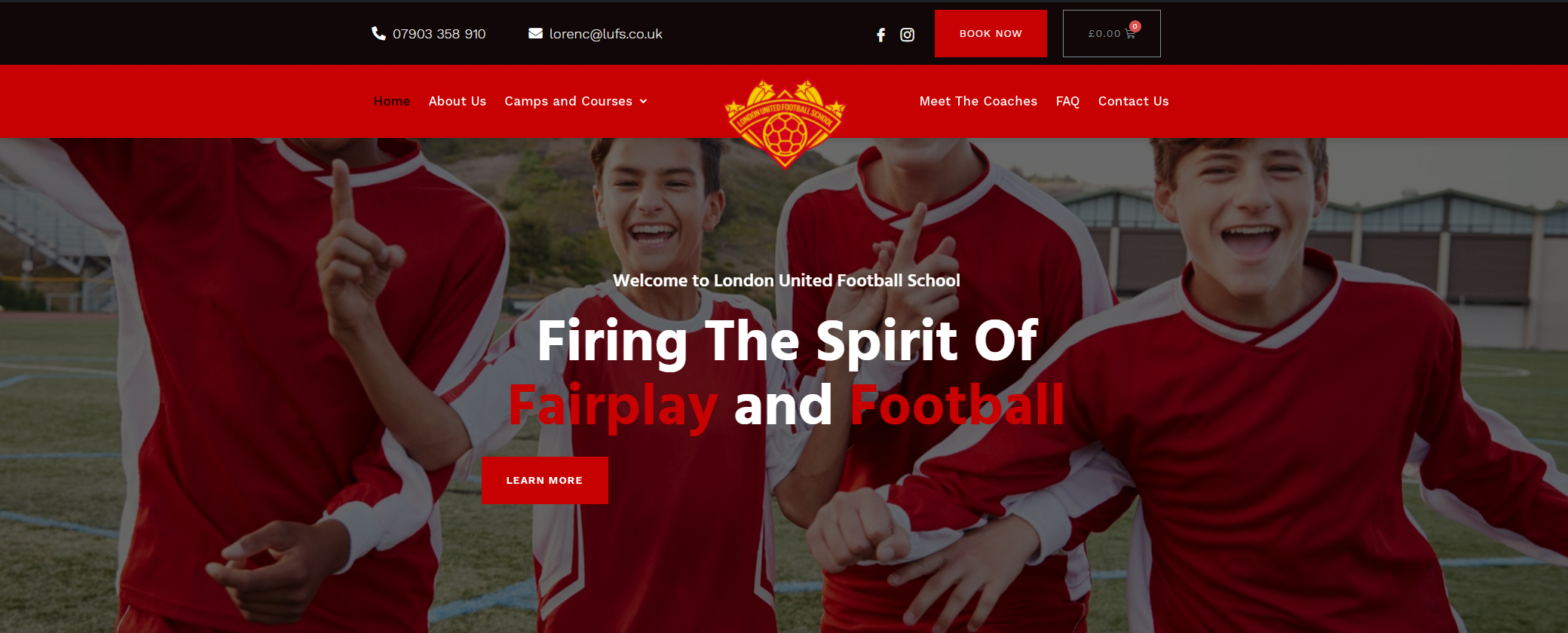 London United Football School Website